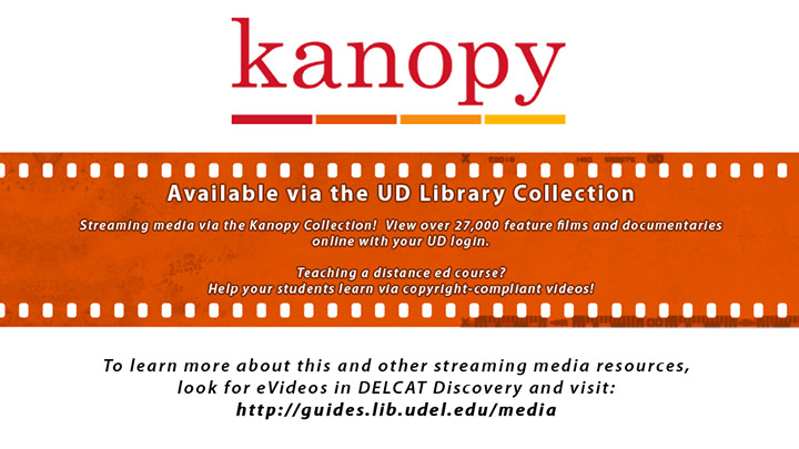 Streaming Video via the Kanopy Collection