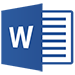 Logo for word 2013