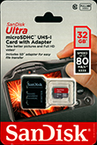 32GB MicroSD Card with SD Card Adapter