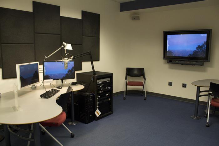 Photo of Studio 2 in the Student Multimedia Design Center.