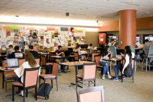 Students in the Library Commons.