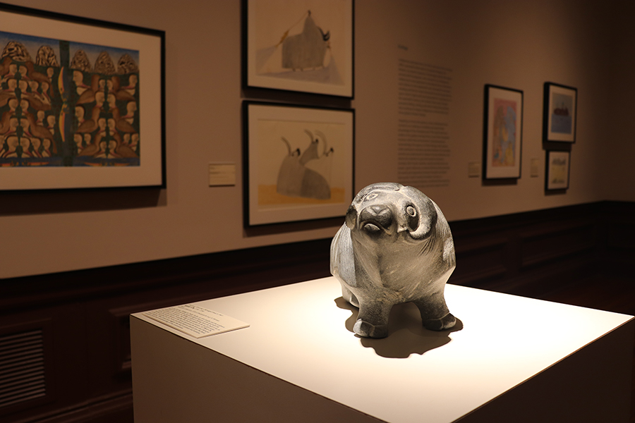 Artwork on view in Old College Gallery.