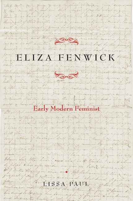 "Cover Art for Eliza Fenwick's ""Early Modern Feminist."""
