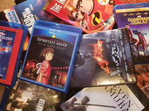 Assortment of DVDs and Blu-ray