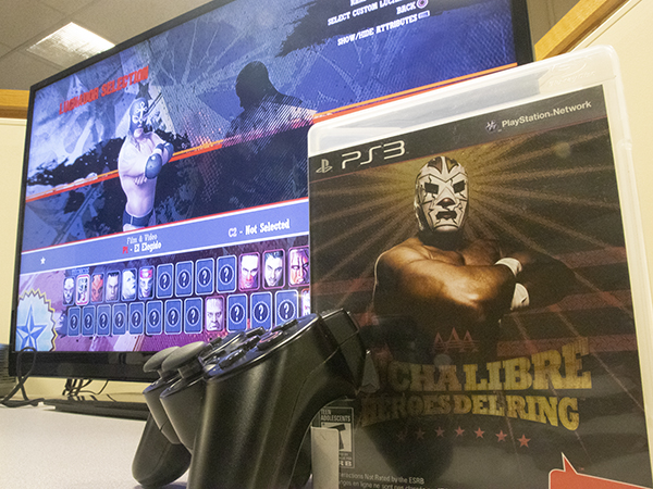Photo of Lucha Libre AAA for PS3 with controller and game case