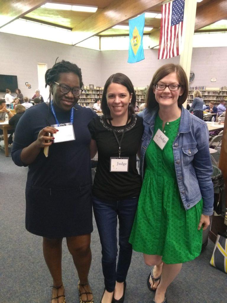 Librarians Grace Adeneye, Lauren Wallis and Meg Grotti