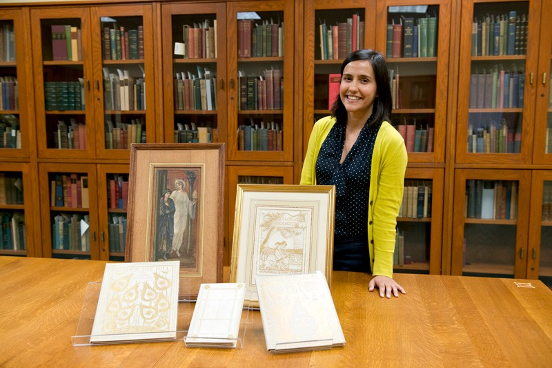 As recipient of this year's Amy P. Goldman Fellowship in Pre-Raphaelite Studies, Tara Contractor has been using the University's collections as well as materials from the Delaware Art Museum for research during her fellowship residency.