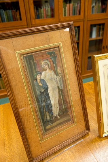 Edward Burne-Jones' watercolor Virgil and the Muse of Poetry from the University's Mark Samuels Lasner Collection.
