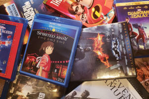 Pile of DVDs and Blu-ray