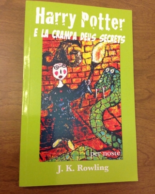 Unique cover art is for the Occitan translation of 'Harry Potter and the Chamber of Secrets.'
