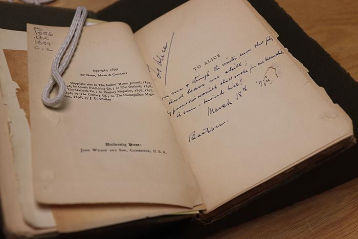 Paul Laurence Dunbar's Lyrics of the Hearthside contains a dedicated inscription to Alice Dunbar-Nelson.