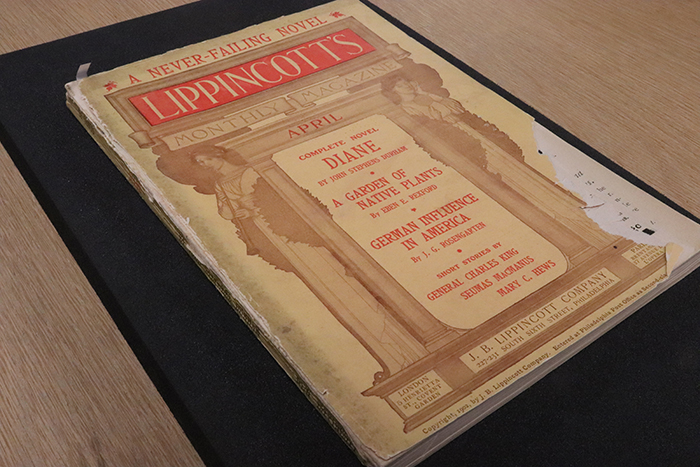 John Stephens Durham's complete novel, Diane, Priestess of Haiti was published within this issue of the monthly magazine, Lippincotts.