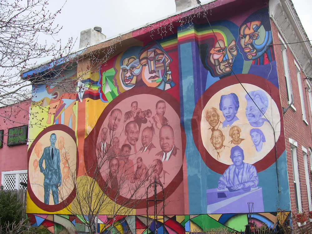 African American Community Mural at 10th and Pine Street Wilmington DE