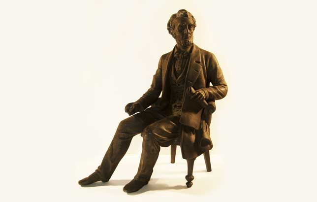 <p>The unidentified artist likely based this sculpture on a photograph of Abraham Lincoln by Alexander Gardner.</p>