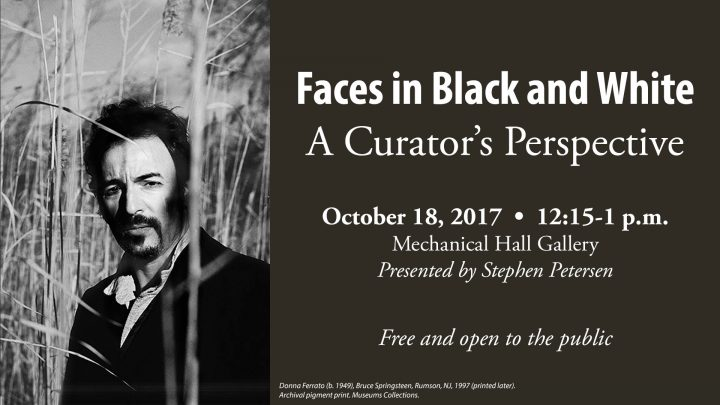 Faces in Black and White: A Curator's Perspective