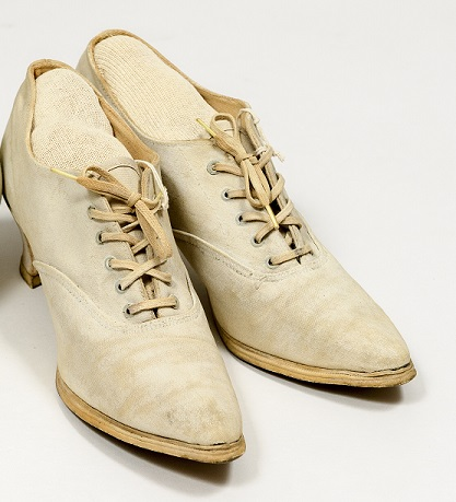 <p>Keds® were created in 1916 by the U.S. Rubber Company of Naugatuck, Connecticut.  Active women valued the flexibility and comfort of the Carmen style (shown here).</p>