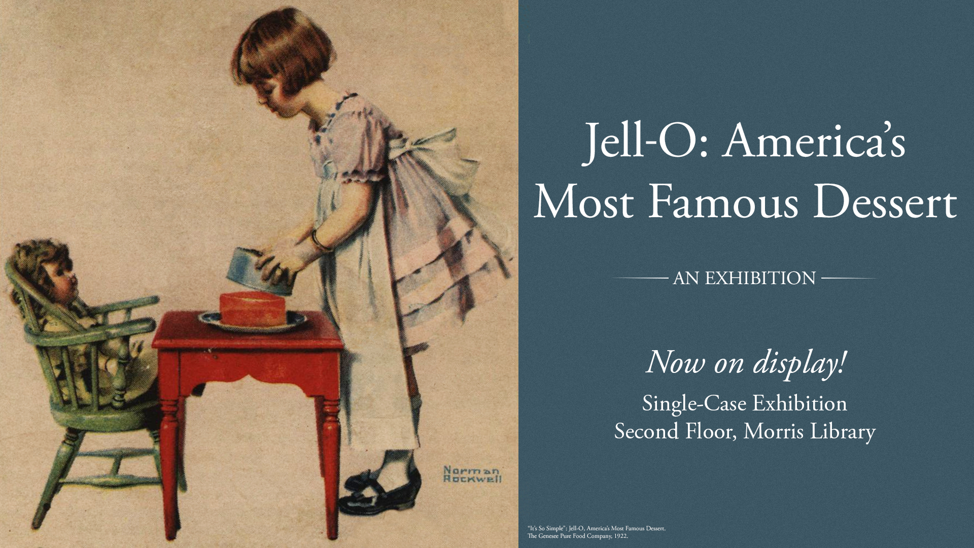 "Poster for ""Jell-O: America's Most Famous Dessert"" exhibition"