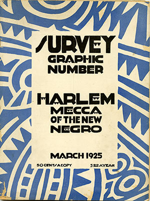 <p>This famous issue from 1925 was devoted to the activities of artists and writers living in Harlem. It went on to provide the basis for the most famous text of the Harlem Renaissance, <emph>The New Negro</emph> (1925), an anthology edited by Alain Locke which is also featured in the exhibition, <emph>Issues and Debates in African American Literature</emph>.</p>