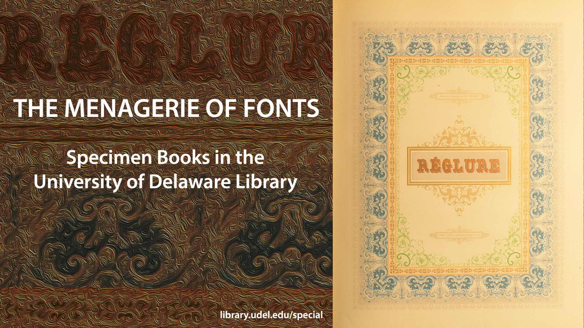 "Image for ""A Menagerie of Fonts: Specimen Books in the University of Delaware Libary"" exhibition"