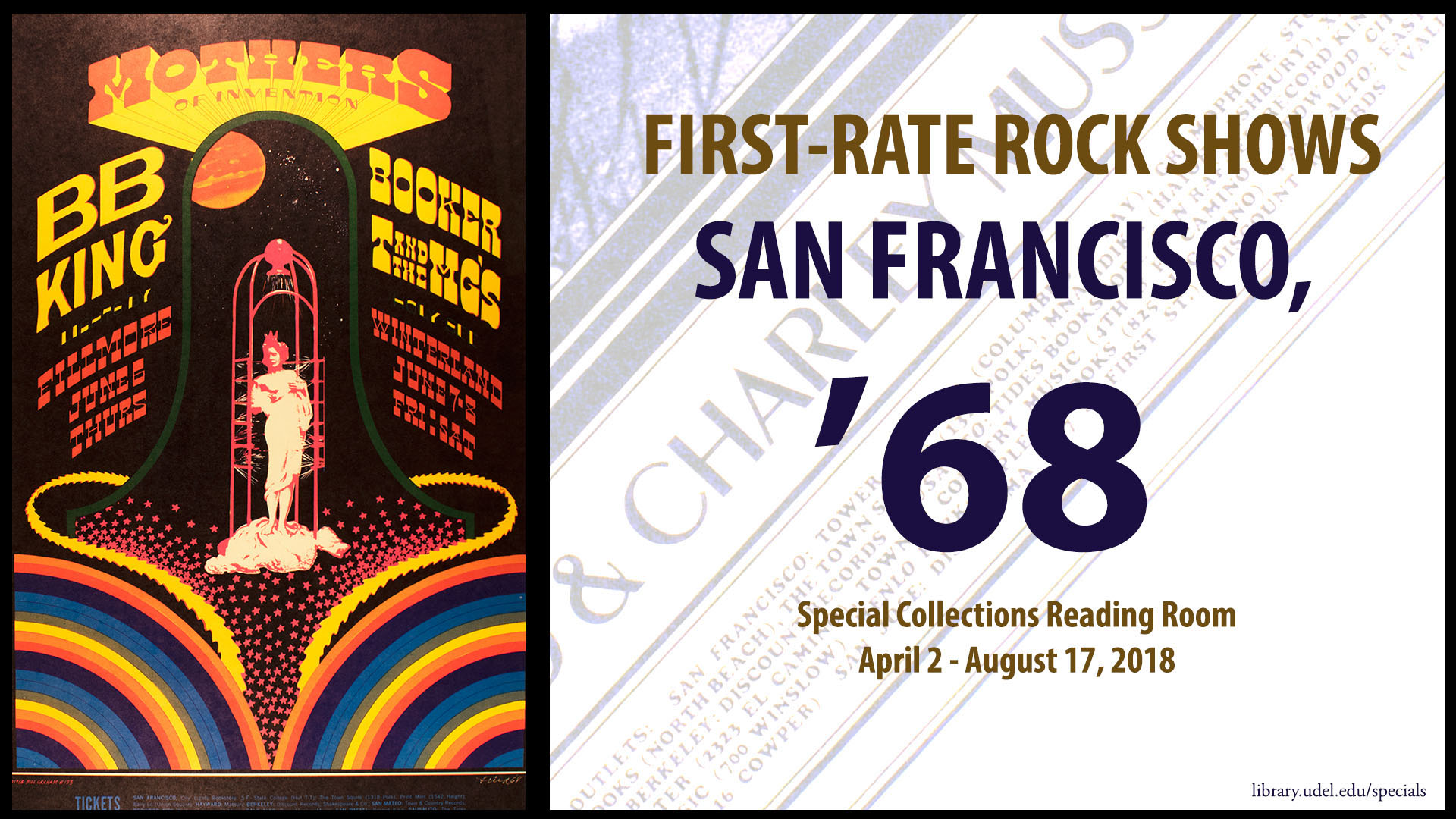 "Poster for ""First Rate Rock Posters: San Francisco, '68"""
