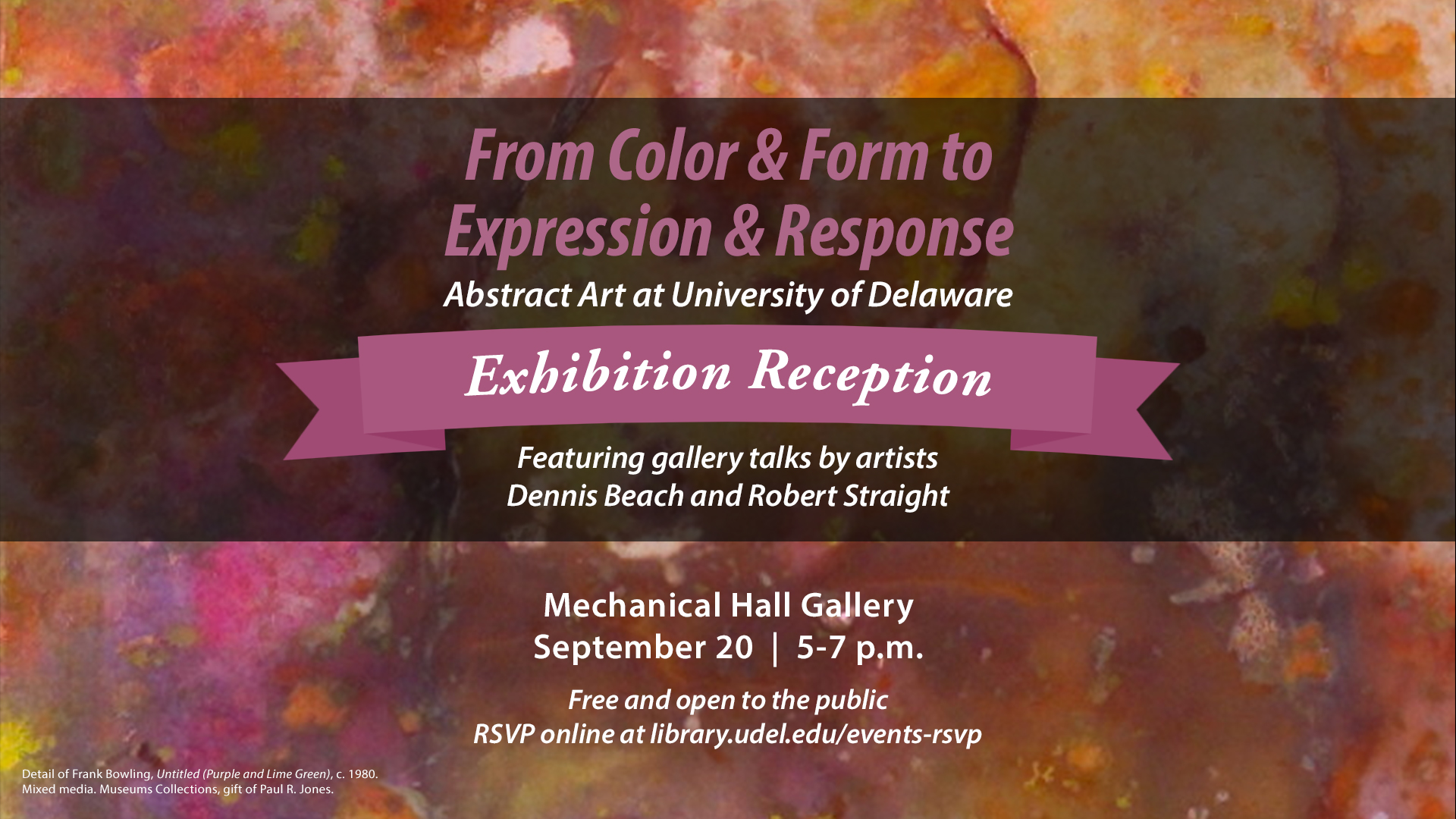 Reception for From Color and Form to Expression and Response: Abstract Art at University of Delaware