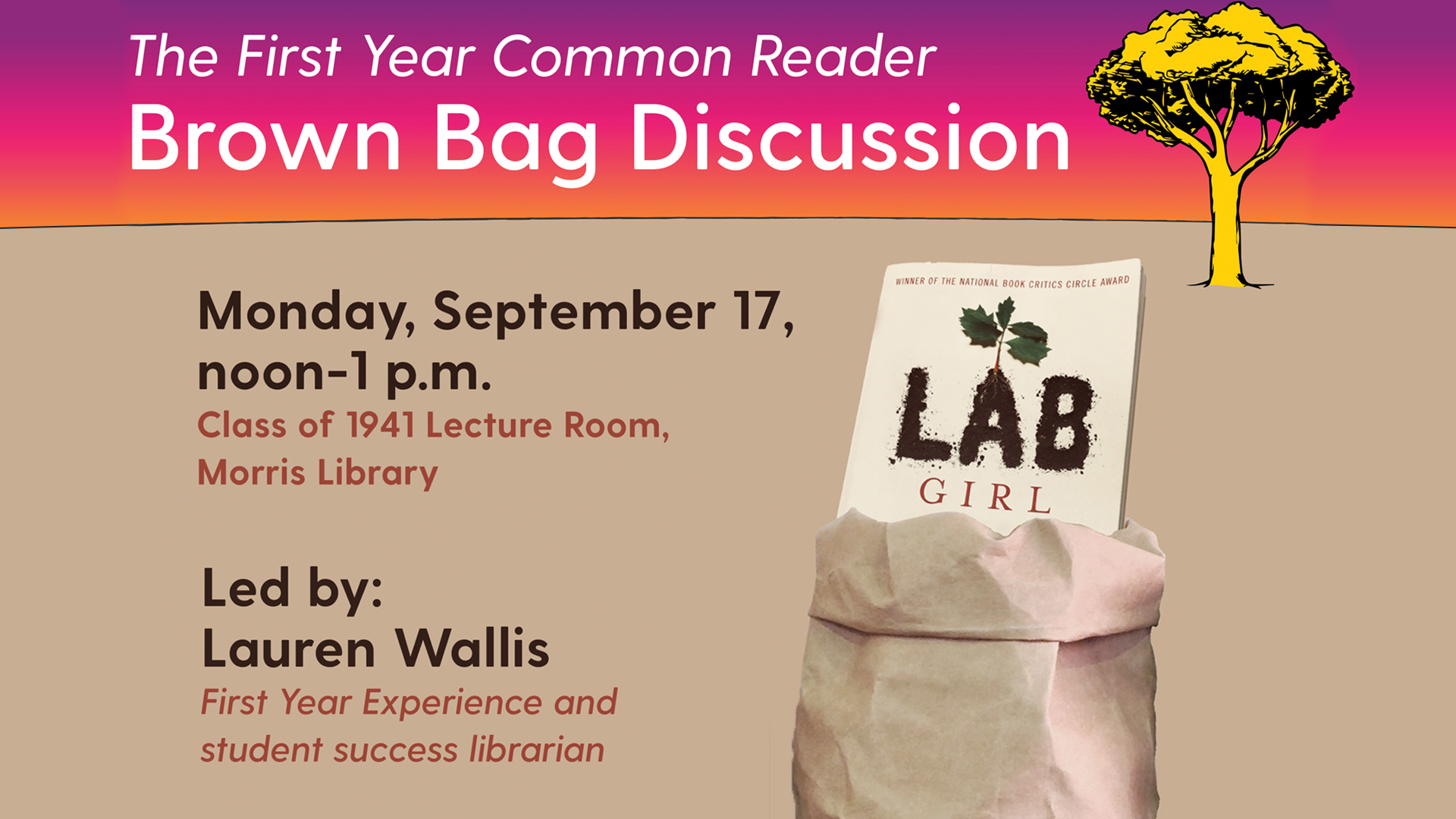 Lab Girl Brown Bag Discussion