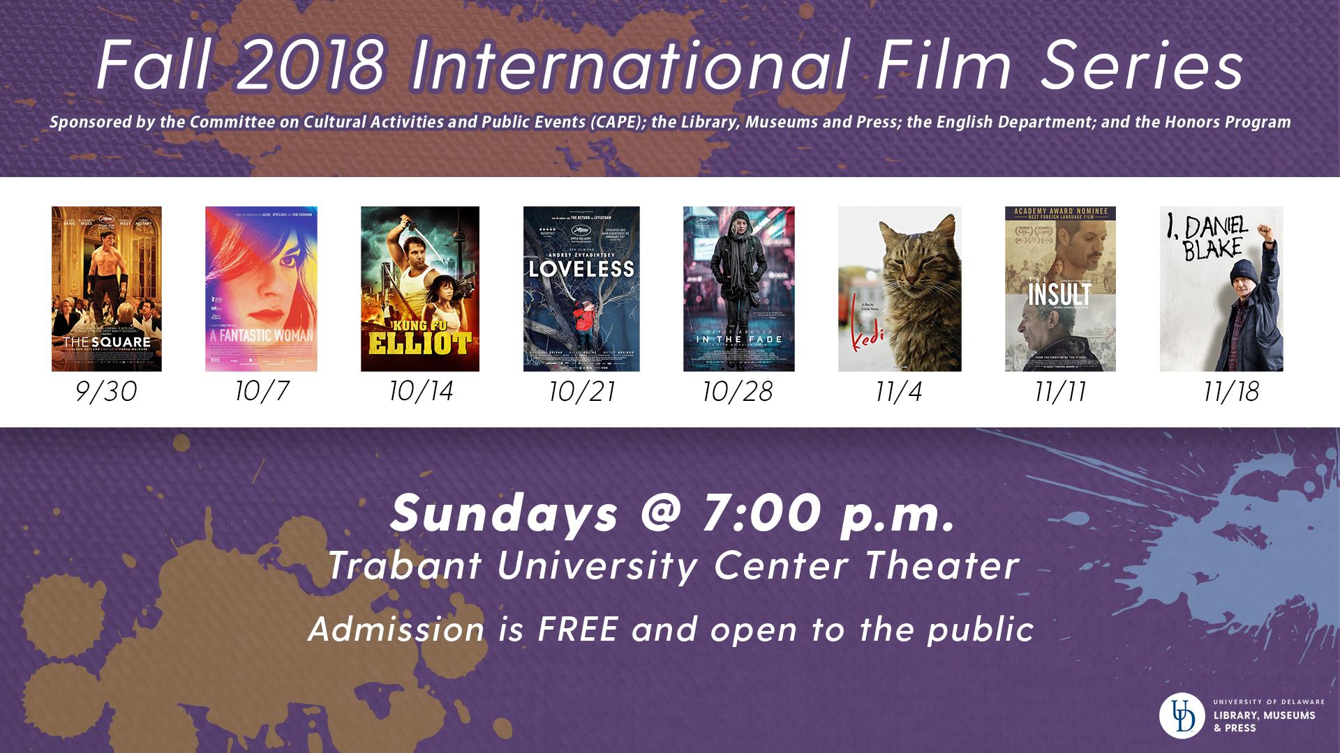 Fall 2018 International Film Series