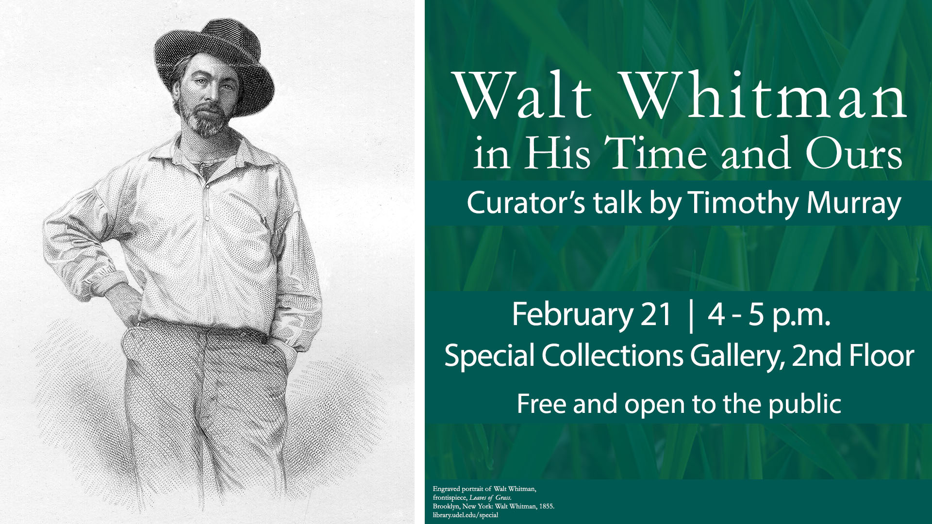 Curator's Talk: Walt Whitman in His Time and Ours