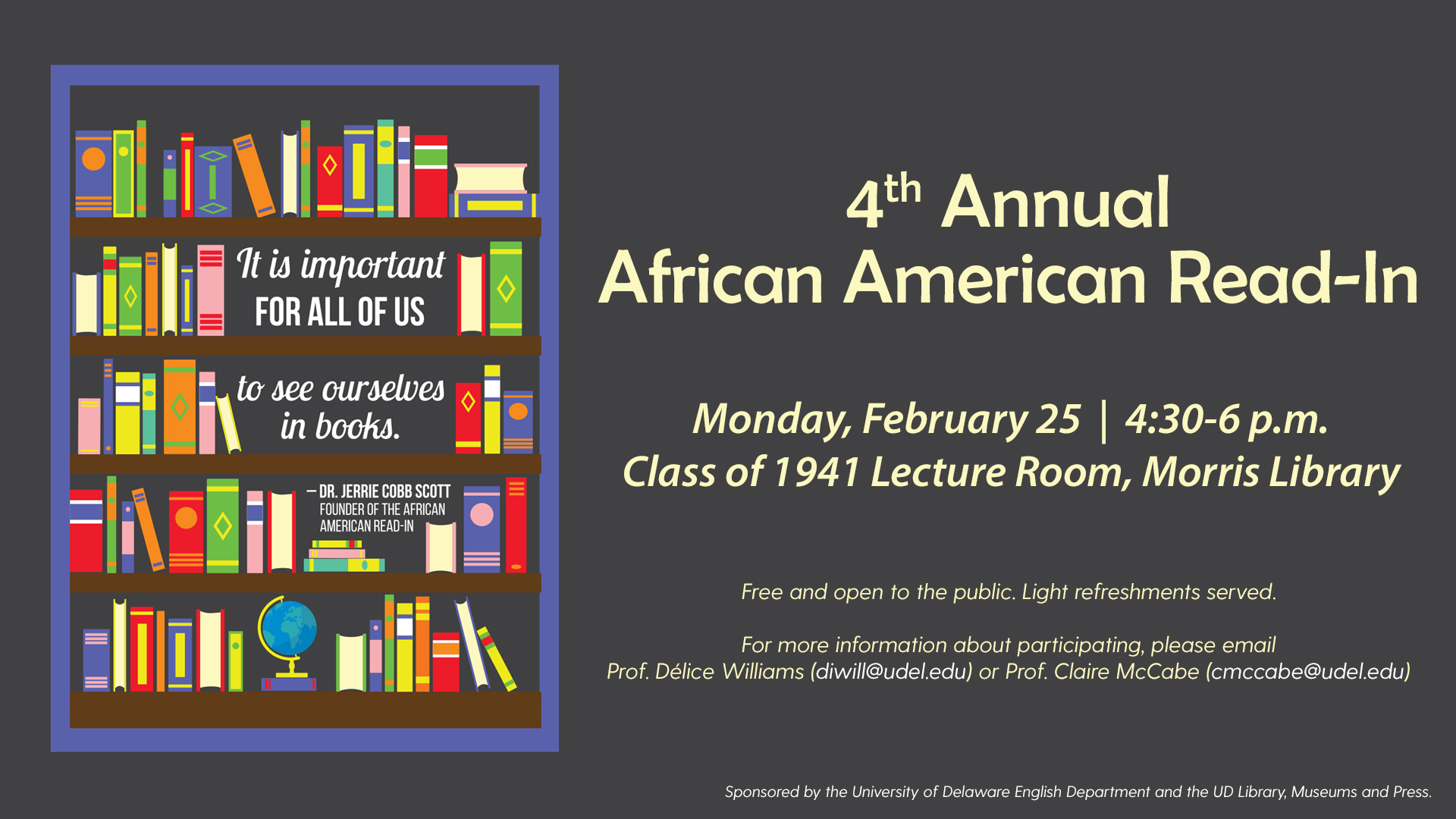 Promotional Image for African American Read-In