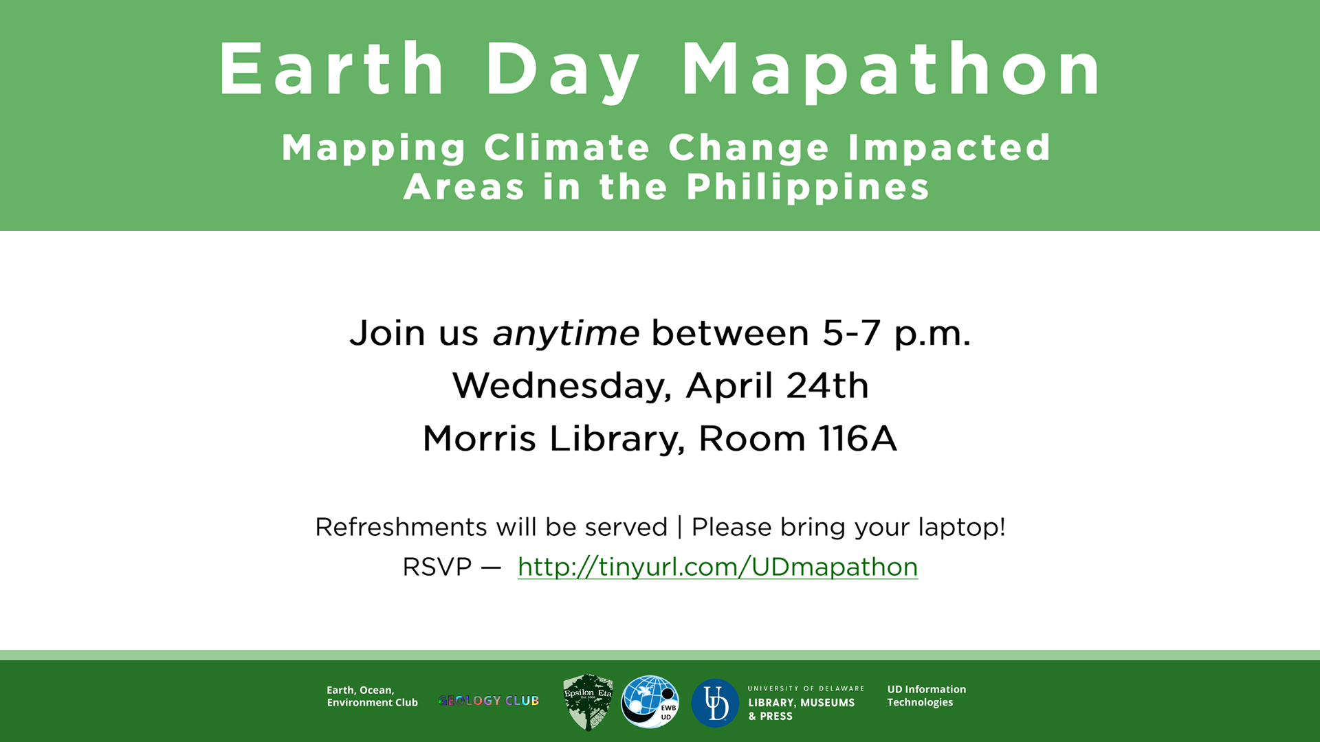 Promotional image for the Earth Day Mapathon