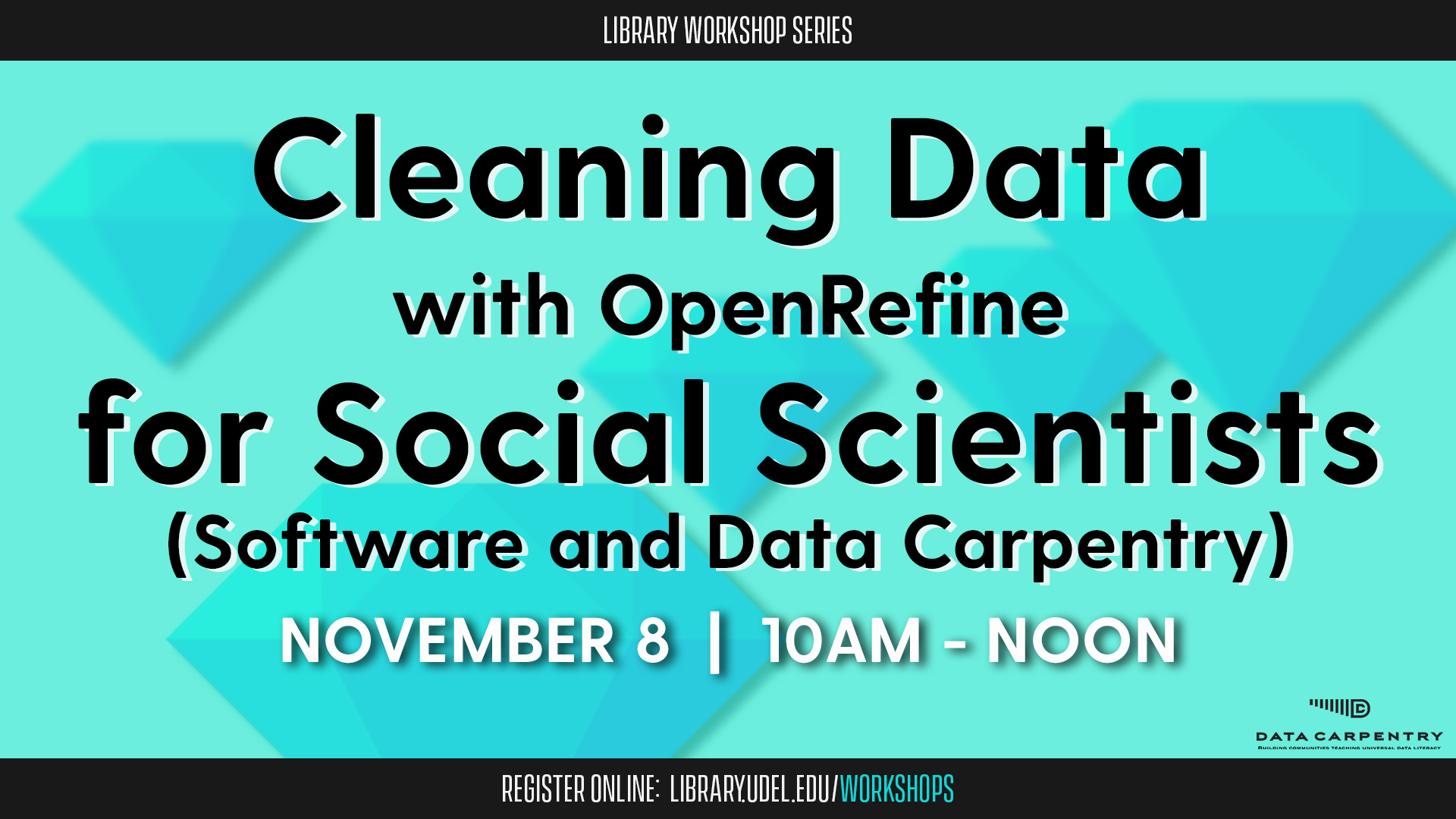 Cleaning Data with OpenRefine for Social Scientists (Software and Data Carpentry)