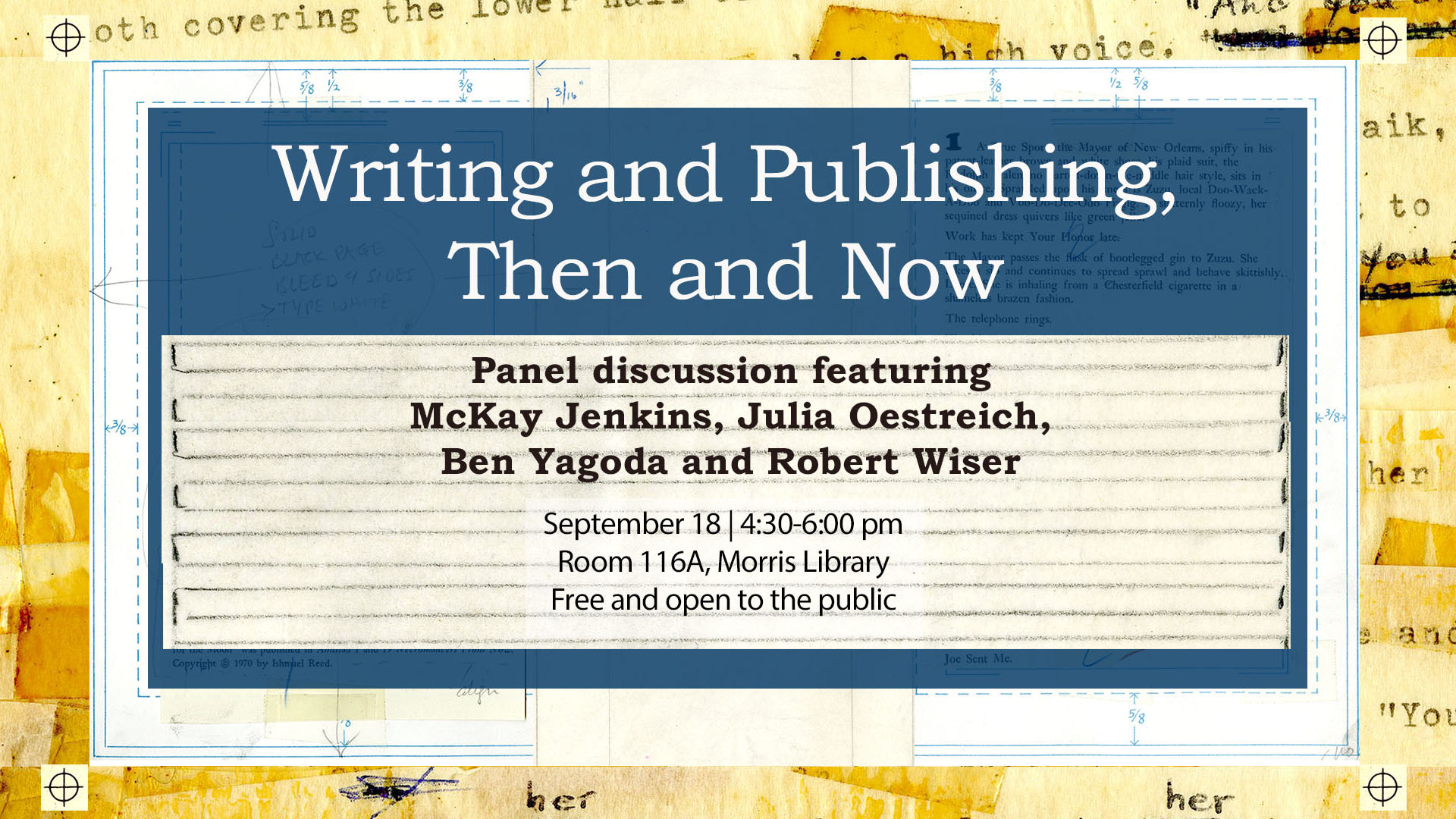 Promotional image for Writing and Publishing, Then and Now