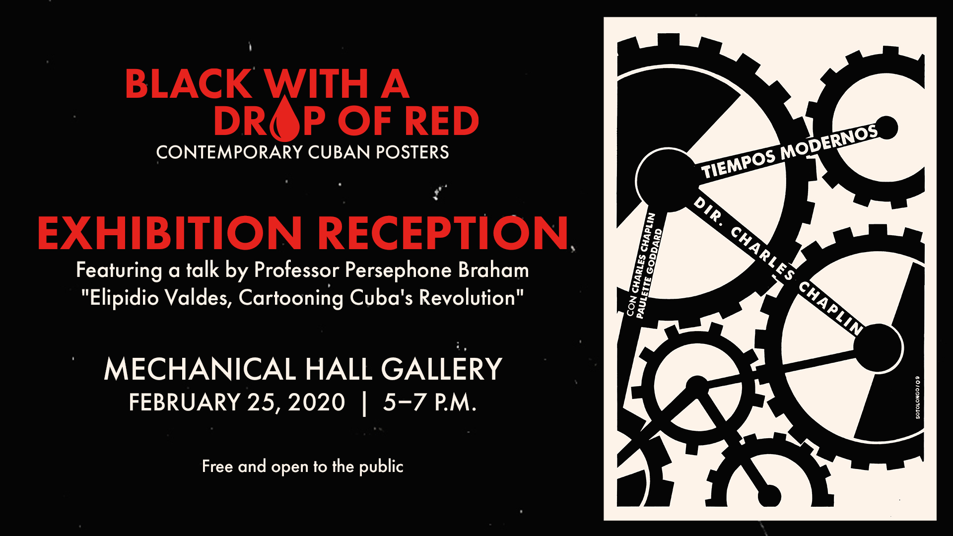 Promotional image for the Cuban Posters exhibition reception