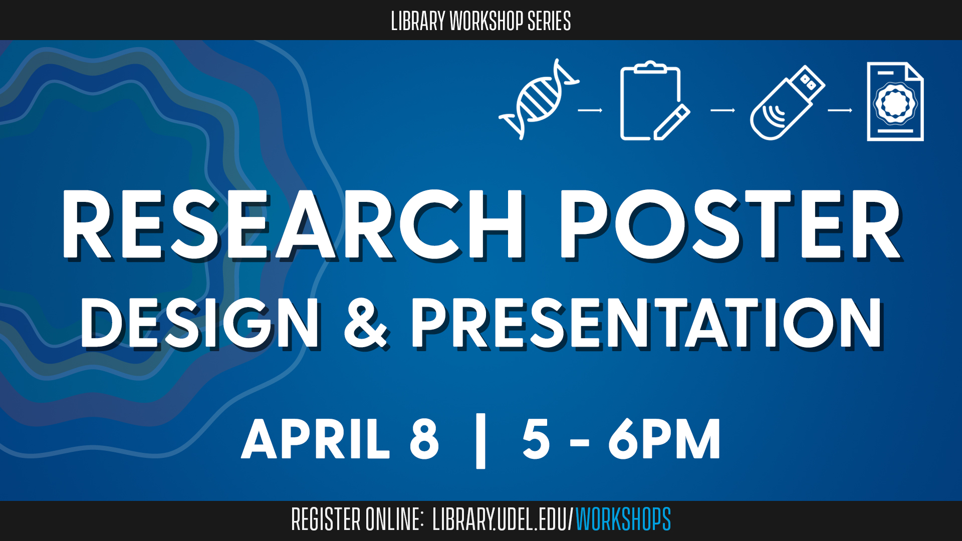 Promotional image for Research Poster Design and Presentation