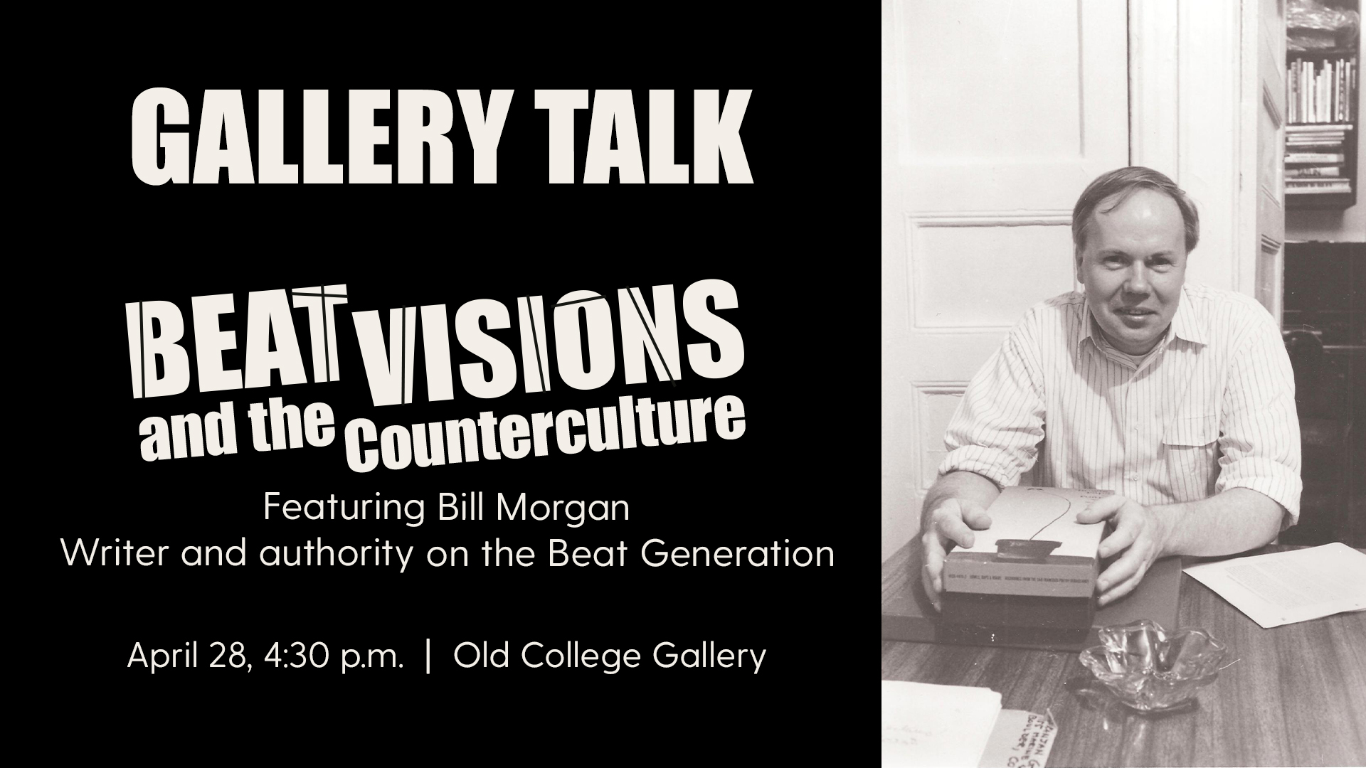 Promotional image for the Gallery Talk on