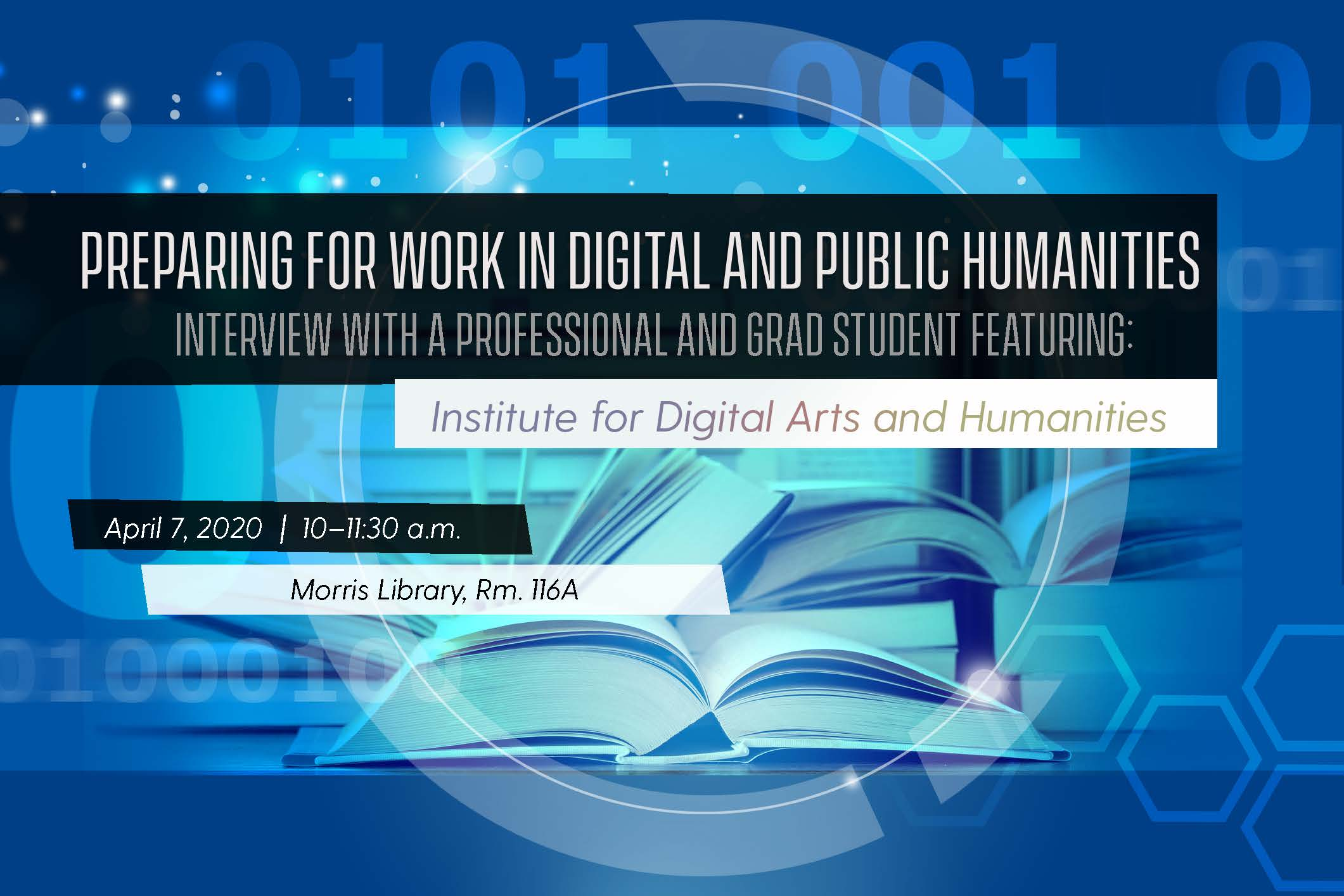 CANCELLED - Preparing for Work in Digital Public Humanities