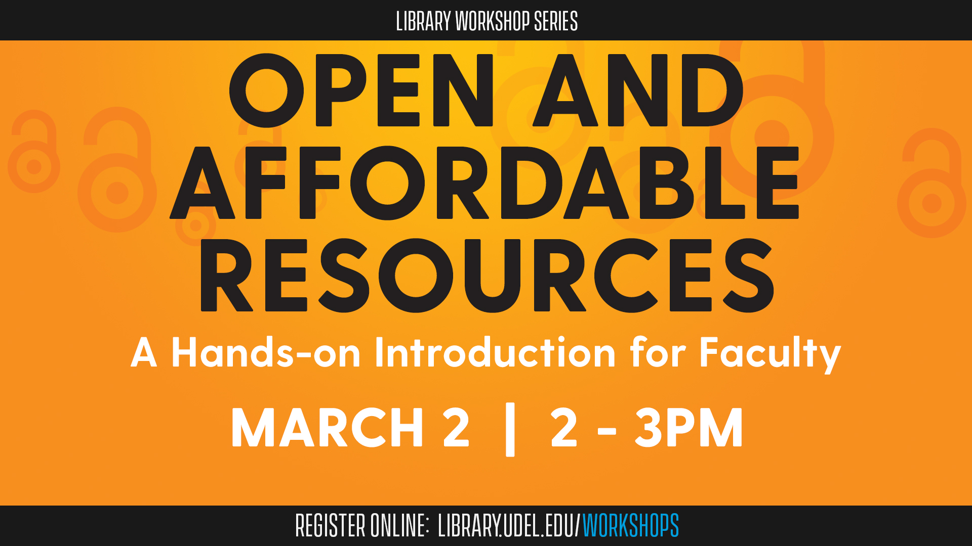 Open and Affordable Resources: A Hands-on Introduction for Faculty