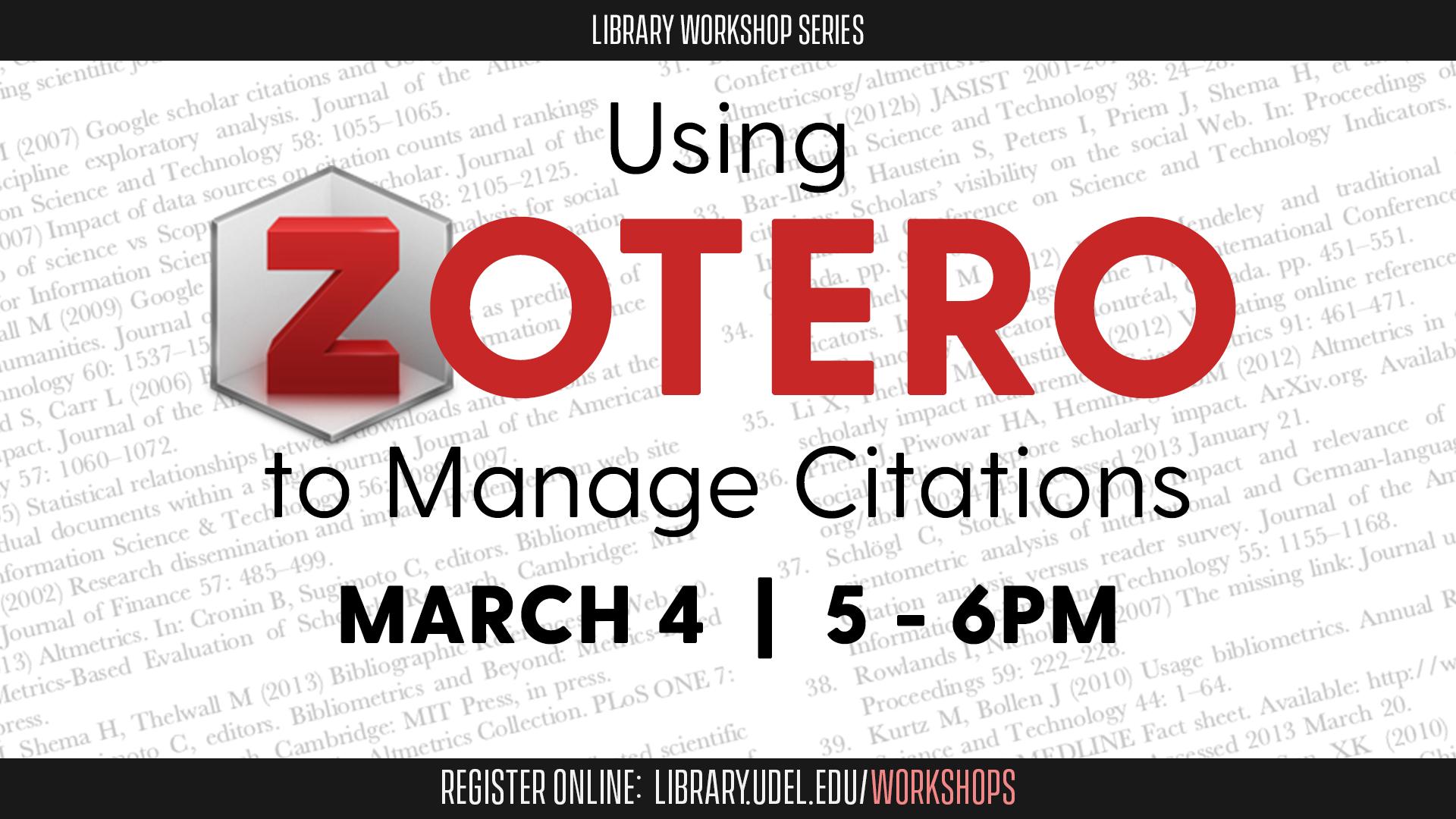 Using Zotero to Manage Citations