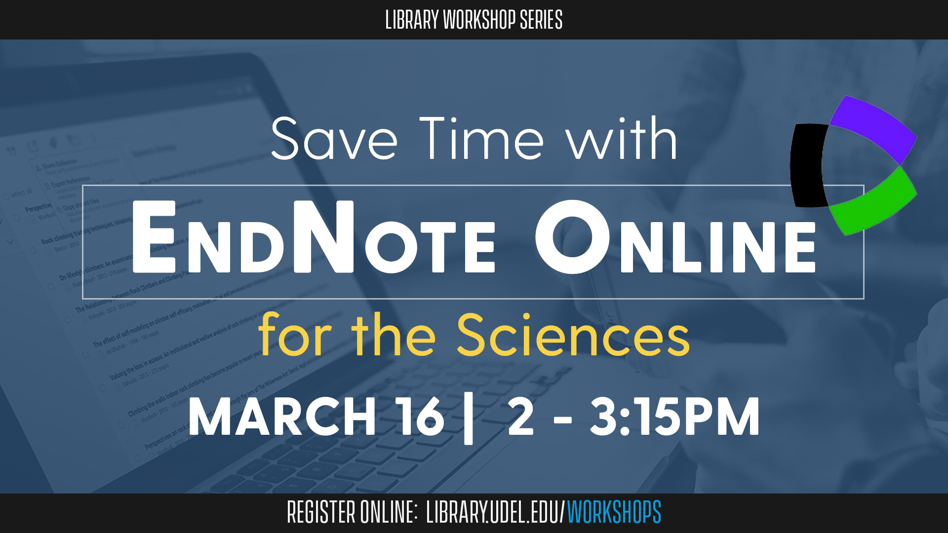Save Time with EndNote Online for the Sciences