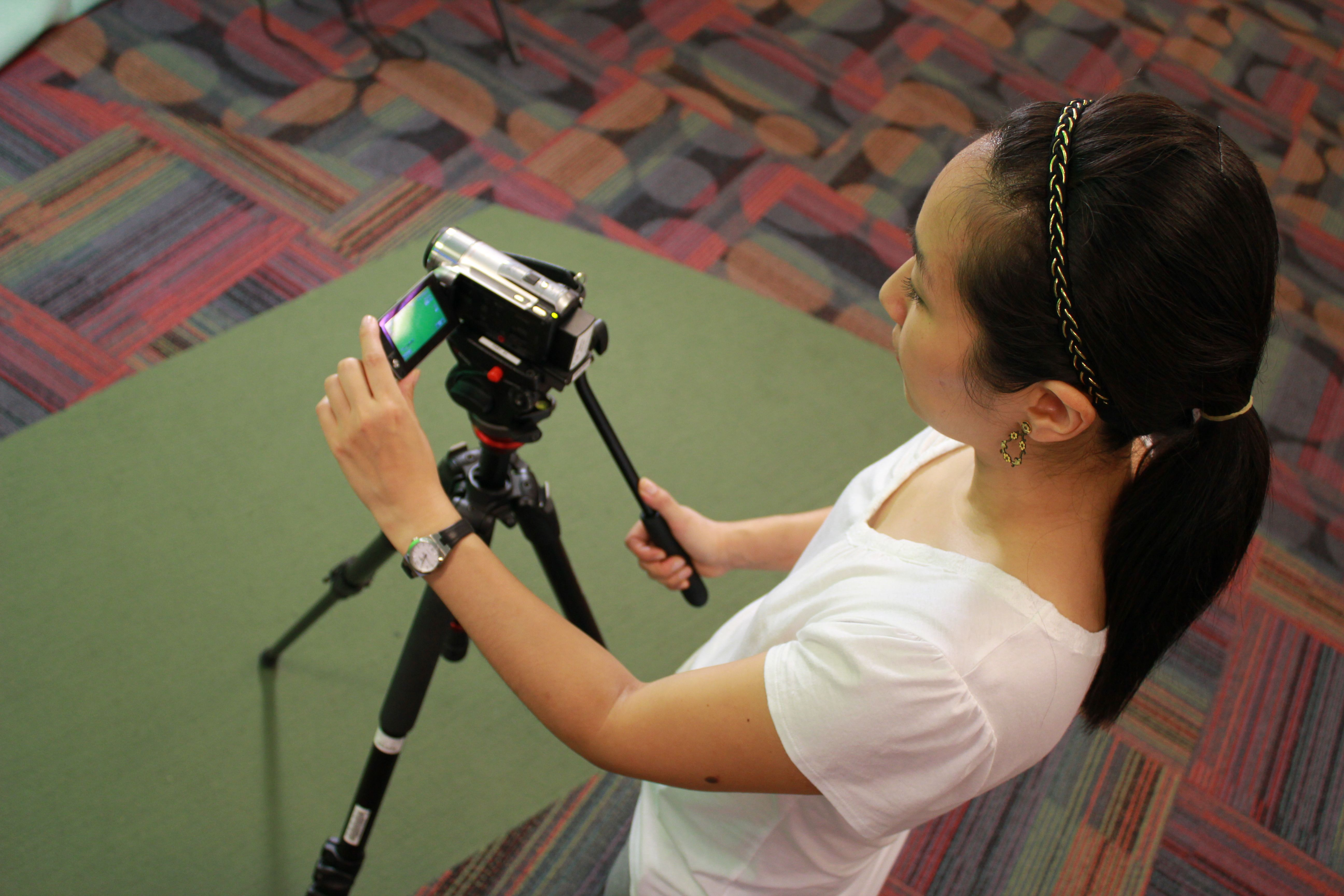 Student filming