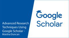 Explore the Using Google Scholar