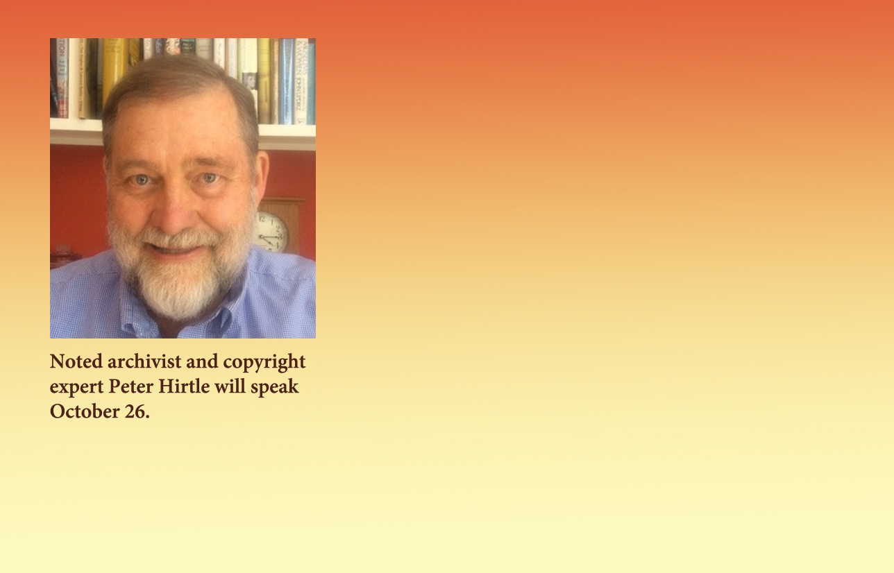 Copyright Expert Peter Hirtle to Present Open Access Week Keynote Address