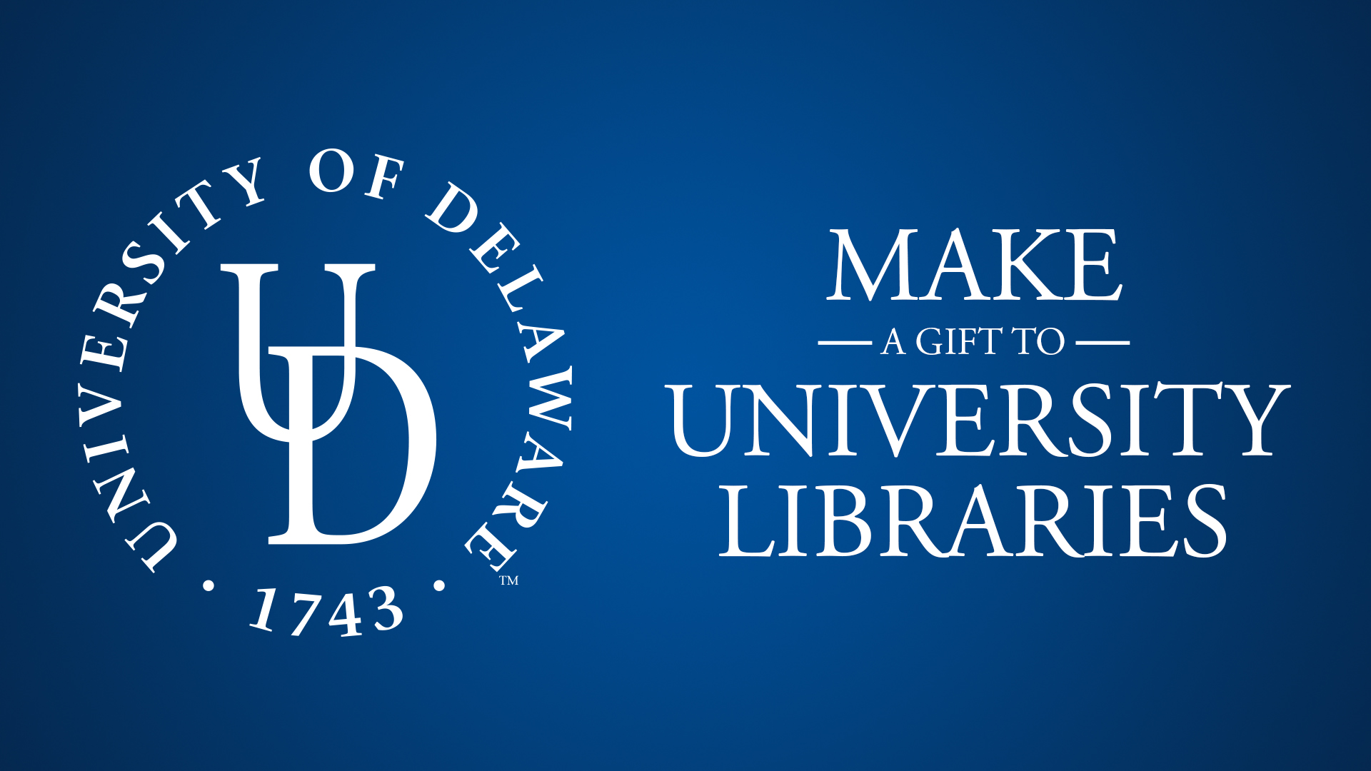 Make Your Gift to University Libraries